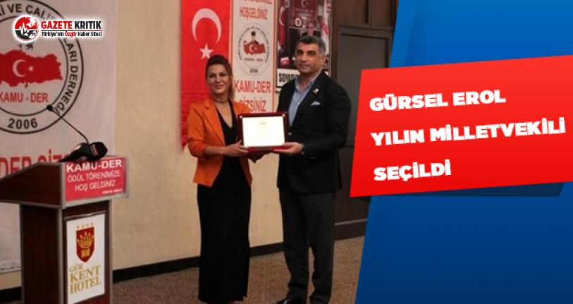 CHP'li Gürsel Erol, Yılın Milletvekili Seçildi