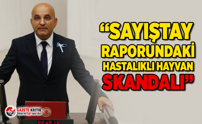 "CHP'Lİ MAHİR POLAT:""SAYIŞTAY RAPORUNDAKİ HASTALIKLI HAYVAN SKANDALI"""