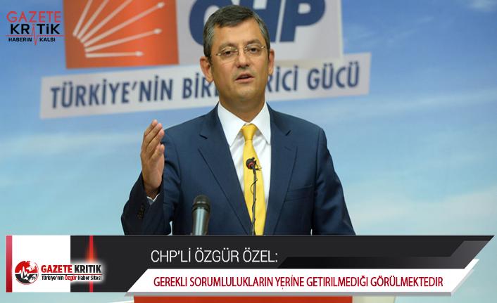 CHP'li Özel, Vatandaşın Mağduriyetini Meclise Taşıdı