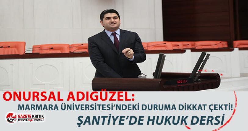 CHP, Marmara Üniversitesi'ndeki duruma dikkat çekti:Şantiyede hukuk!
