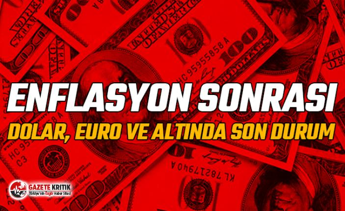 Enflasyon sonrası dolar, euro ve altında son durum