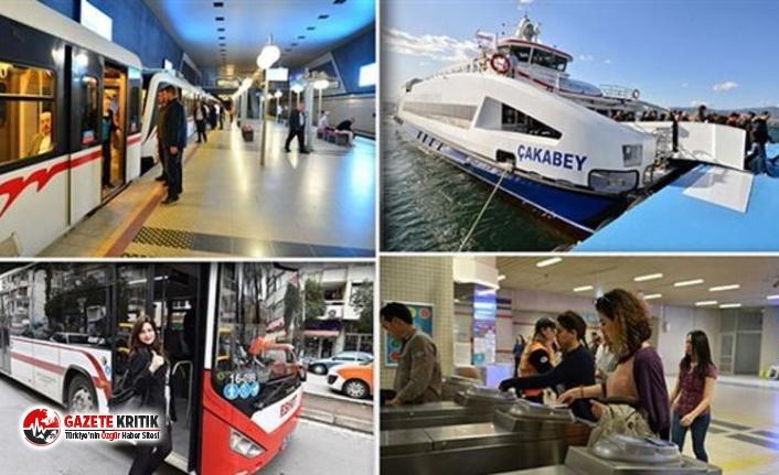 İzmir Büyükşehir Belediyesi'nden toplu taşıma ücretlerine zam!