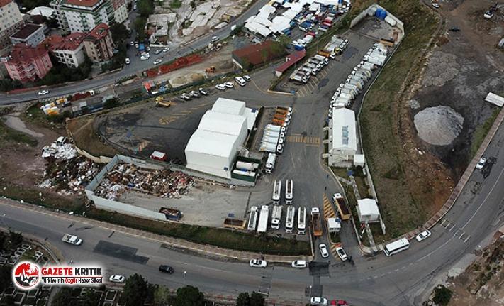 Maltepe'de ''hafriyat kamyonlu'' eylem devam ediyor