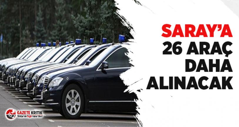 Saray'a 26 araç daha alınacak