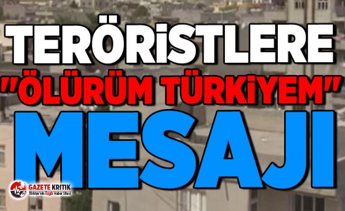 Teröristlere ''Ölürüm Türkiyem'' mesajı