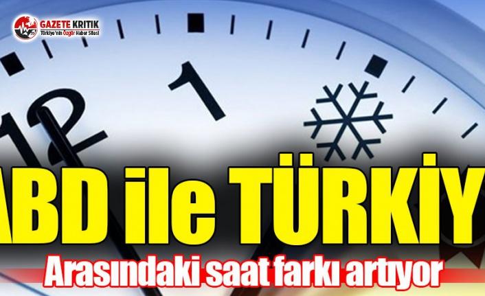 ABD ile Türkiye arasındaki saat farkı değişti!