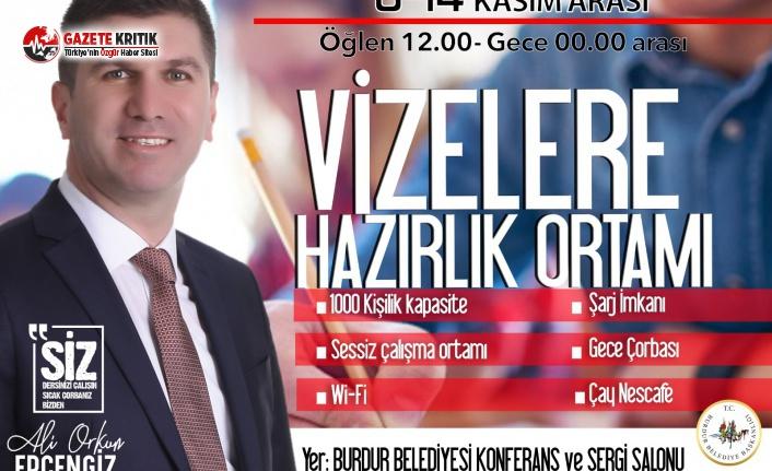 Başkan Ercengiz'den MAKÜ Öğrencilerine Etüt Merkezi