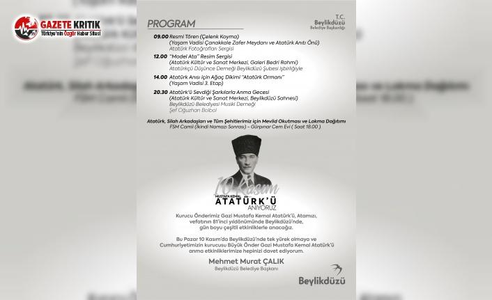 Beylikdüzü Belediyesi'nden 10 Kasım'da 'Atatürk Ormanı'
