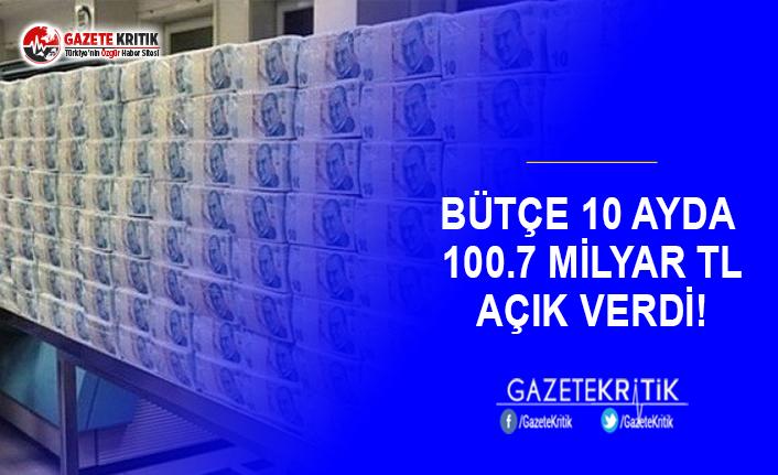 Bütçe 10 Ayda 100.7 Milyar TL Açık Verdi