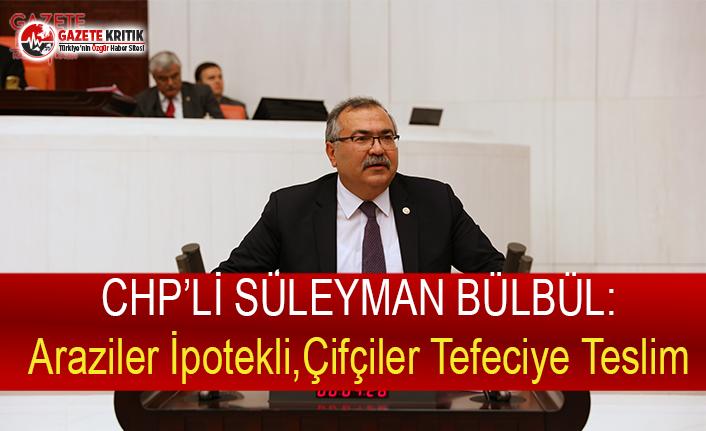 CHP'li Bülbül: Araziler İpotekli, Çiftçiler Tefeciye Teslim