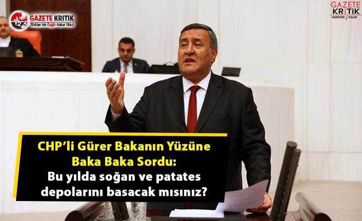 CHP'li Gürer: Üreticiyi Stokçu Hatta Terörist İlan Ettiniz