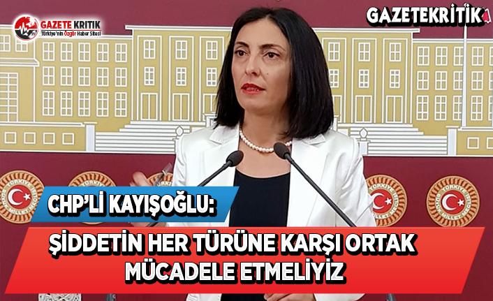 CHP'li Kayışoğlu: Şiddetin Her Türüne Karşı Ortak Mücadele Etmeliyiz