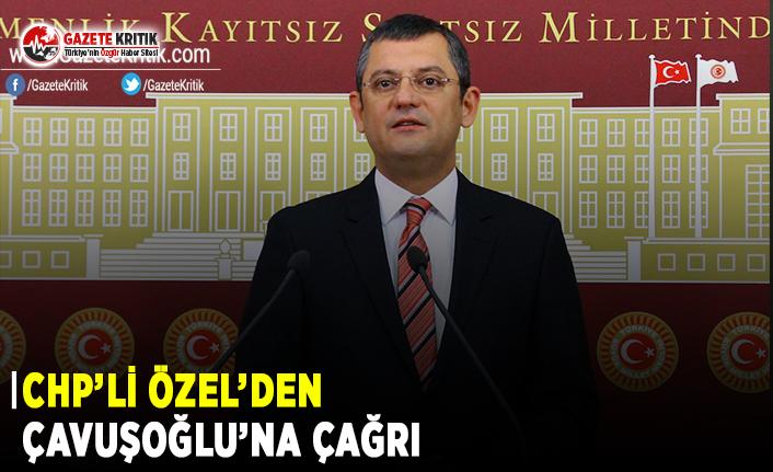 CHP'li Özel'den Çavuşoğlu'na Çağrı!