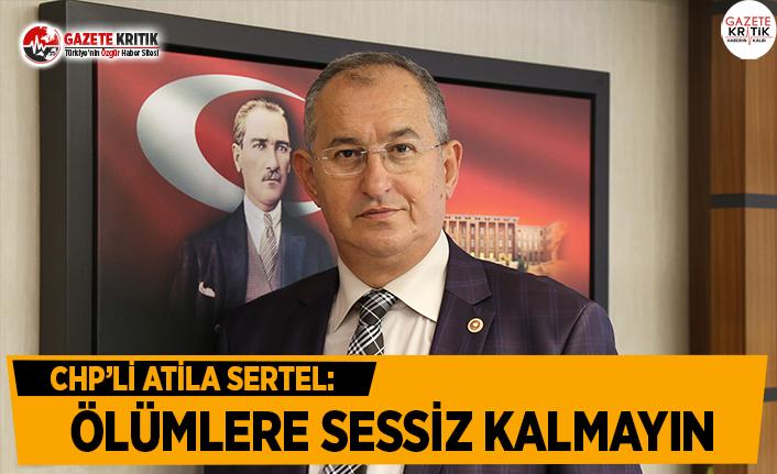 CHP'li Sertel: Ölümlere Sessiz Kalmayın