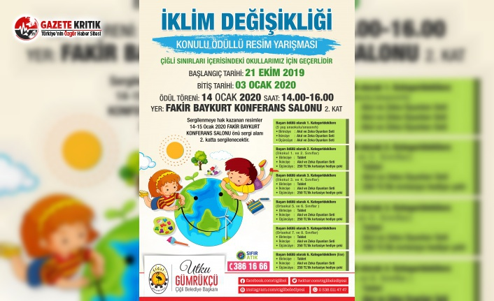 Çiğli Belediyesi, İklim Değişikliğine Dikkat Çekmek için Yarışma Düzenliyor