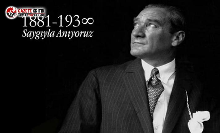İBB'nin 10 Kasım Atatürk'ü Anma Programı