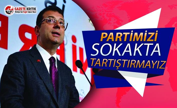 İmamoğlu'ndan o tartışmaya yanıt:Başarının mimarı Kılıçdaroğlu'dur...Partimizi sokakta tartıştırmayız!