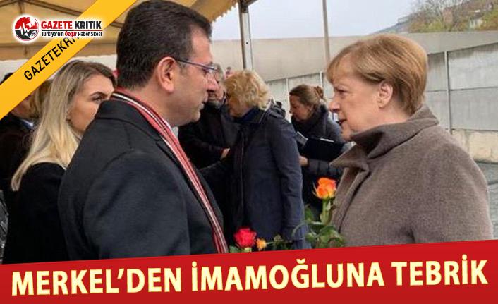 Merkel'den İmamoğlu'na Tebrik