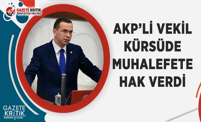 AKP'li Vekil, Kürsüden Muhalefete Hak Verdi