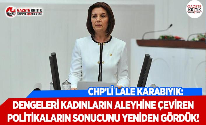CHP'li Karabıyık: Dengeleri Kadınların Aleyhine Çeviren Politikaların Sonucunu Yeniden Gördük!