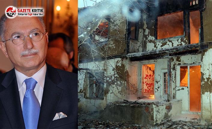Ekmeleddin İhsanoğlu'na Ait Ev Yandı