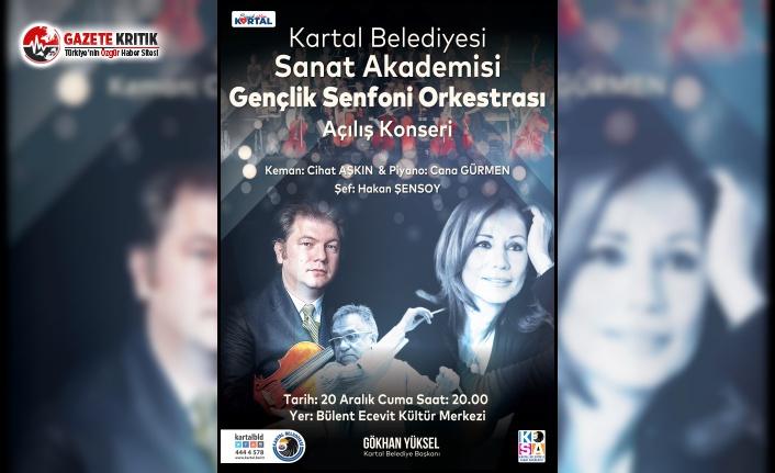Kartal Belediyesi Gençlik Senfoni Orkestrası, Açılış Konserine Hazırlanıyor