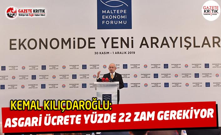 Kılıçdaroğlu:Asgari Ücrete Yüzde 22 Zam Yapılması Gerek!