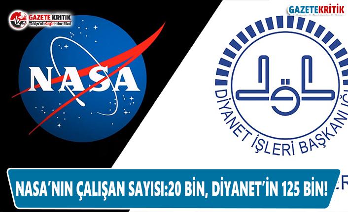 NASA'nın Çalışan Sayısı: 20 Bin, Diyanet'in 125 Bin!