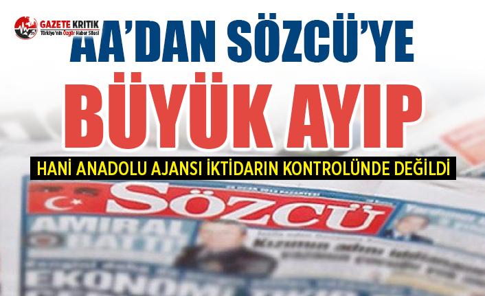 Anadolu Ajansı, Sözcü'nün aboneliğini iptal etti