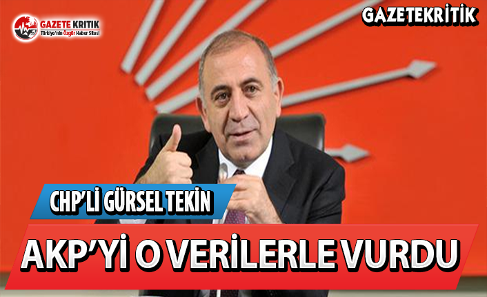 CHP İstanbul Milletvekili Gürsel Tekin AKP'yi O Verilerle Vurdu!
