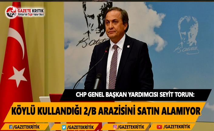 CHP'li Torun: Köylü kullandığı 2/B arazisini satın alamıyor