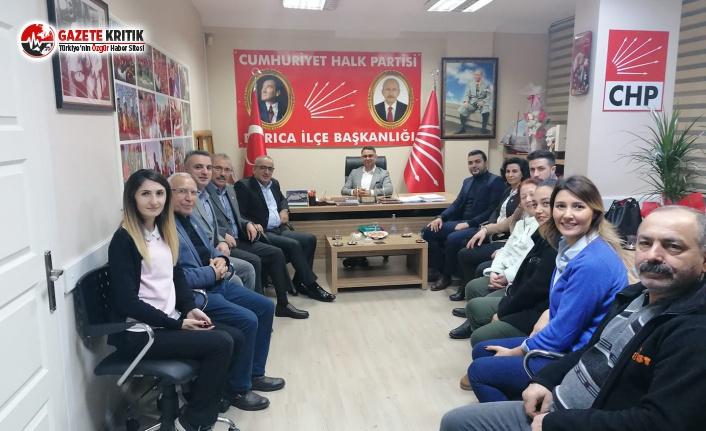 Haydar Akar'dan, CHP'de yeni seçilen ilçe başkanlarına ziyaret