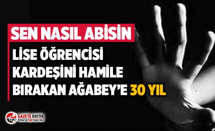 Konya'da lise öğrencisi kardeşini hamile bırakan ağabeye 30 yıl hapis cezası: Anne, baba ve kız kardeş şikayetçi olmadı
