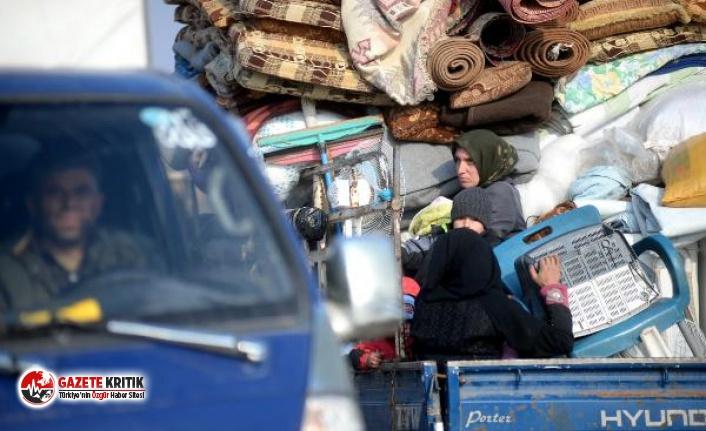 1 milyon 300 bin kişi İdlib'ten kaçıp sınıra dayandı!