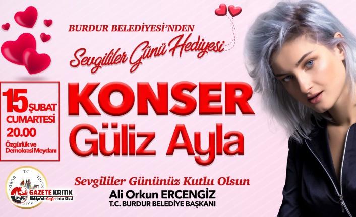 Burdur Belediyesi'nden 14 Şubat Sevgililer Günü Hediyesi