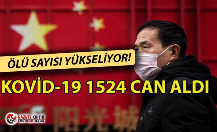 Çin'de ölü sayısı yükseliyor: Kovid-19 1524 can aldı !