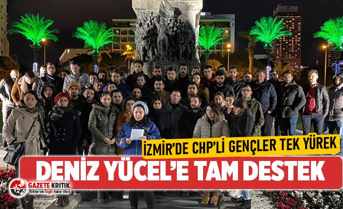 İzmir'de CHP'li gençler Deniz Yücel için tek yürek