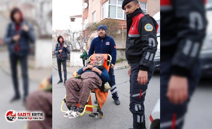 Yangından etkilenen yaşlı kadına belediye el uzattı