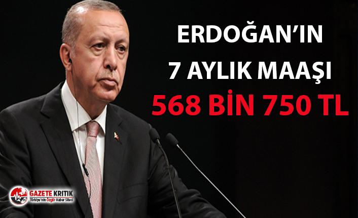 Erdoğan'ın 7 Aylık Maaşı 568 bin 750 TL