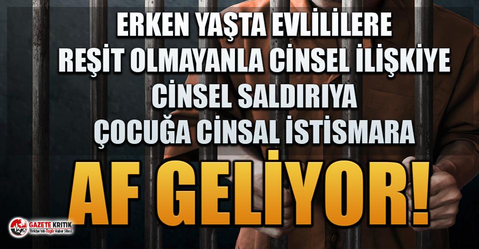 Her şeye ret veren AKP ve MHP'den cinsel suçlara af ısrarı!