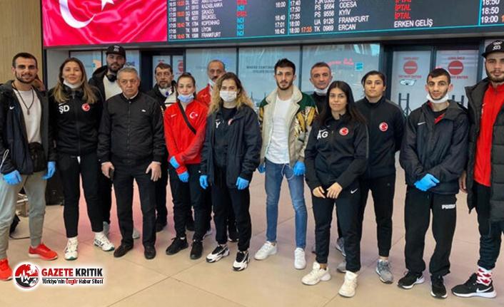 Londra'dan İstanbul'a gelen Türkiye Boks Millî Takımı: Karantinaya alınmadık