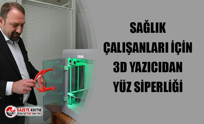 Sağlık çalışanları için 3D yazıcıdan yüz siperliği