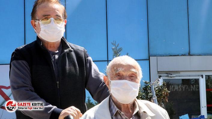 96 yaşındaki baba ve 65 yaşındaki oğlu Corona Virüsü yenip taburcu oldu