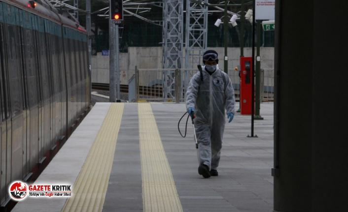 Kartal Belediyesi'nden Marmaray İstasyonlarında İkinci Kez Dezenfekte Çalışması