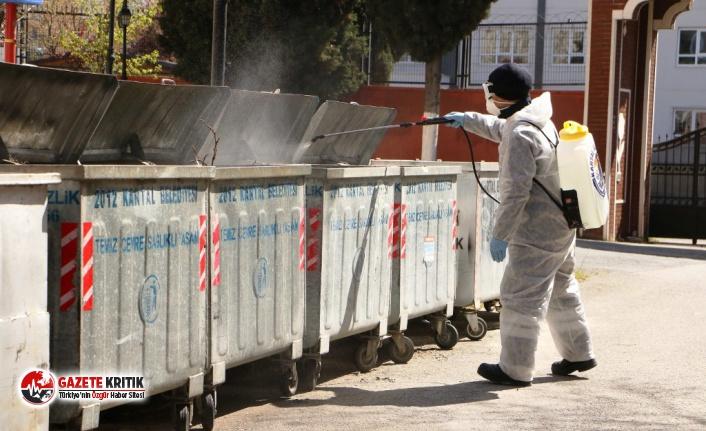 Kartal'da Bulunan Çöp Konteynerleri ve Geri Dönüşüm Kumbaraları İlaçlandı