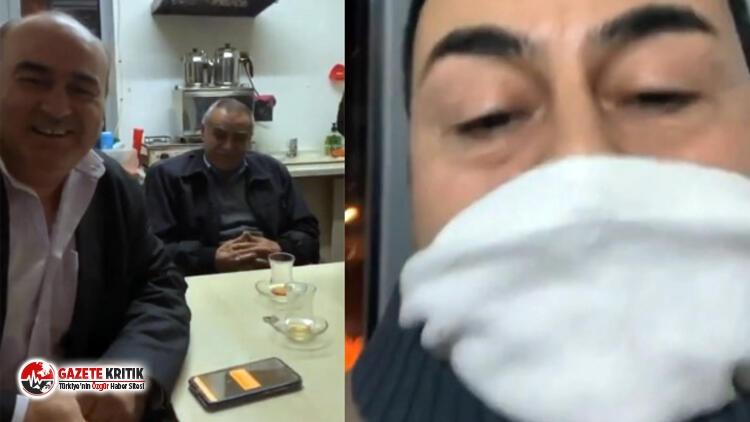 Serdar Ortaç 'bir çay demleyenim yok dedi ve taksi durağına gitti