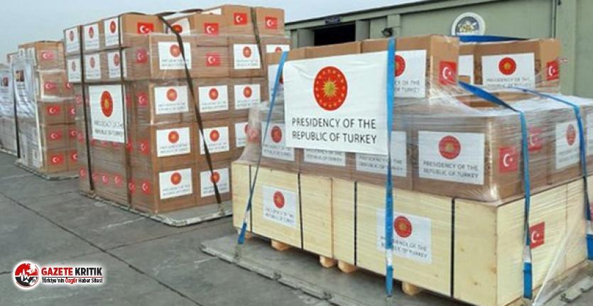 Yardım kolilerinin üstüne Türkiye Cumhuriyeti yerine Cumhurbaşkanlığı forsu yazıldı!