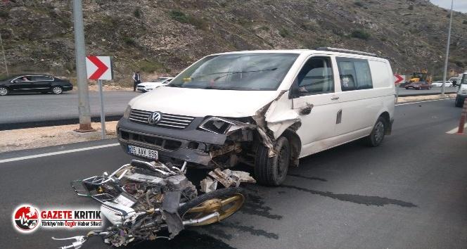 Yeni aldığı motosikletiyle kaza yaptı, hayatını kaybetti