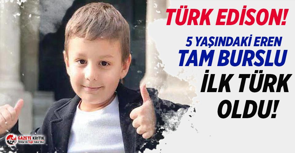 5 yaşındaki Eren, ABD'deki üstün zekalılar okuluna tam burslu kabul edilen ilk Türk oldu