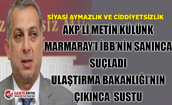 Bu nasıl bir aymazlıktır! AKP'li Külünk Marmaray'ı İBB'nin sanınca suçladı ama duvara çarptı!